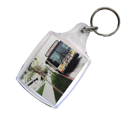 Acrylic keyring with a full colour 2 sided insert