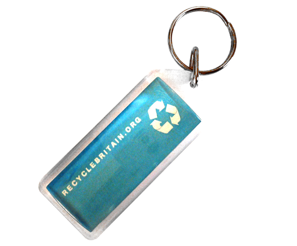 Acrylic keyring with full colour insert