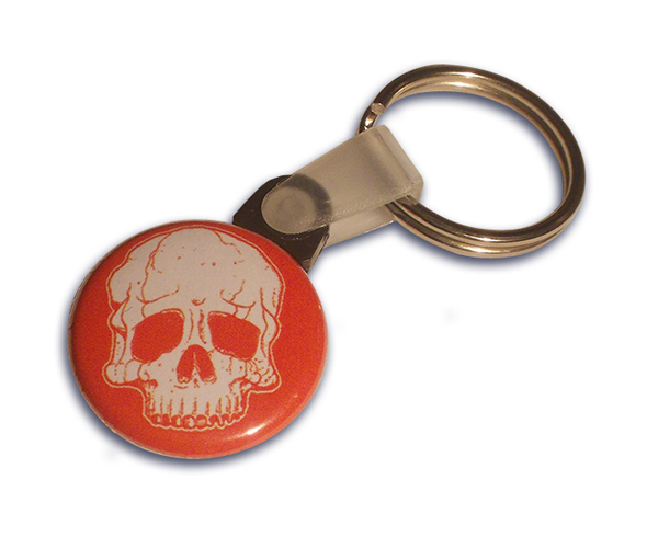 Full colour 25mm button keyring