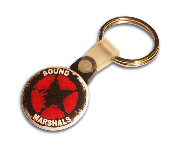Branded 25mm button keyring