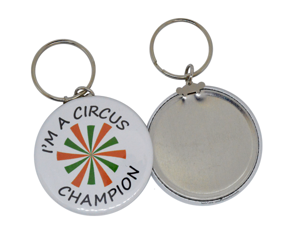 45mm Full colour button keyring