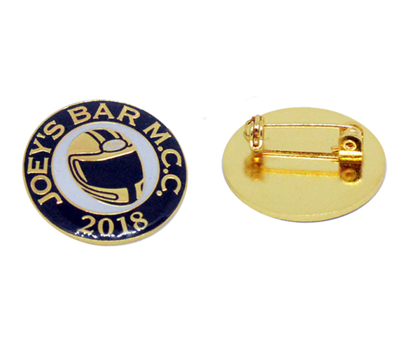 Premium soft enamel badge with gold plating & Brooch pin