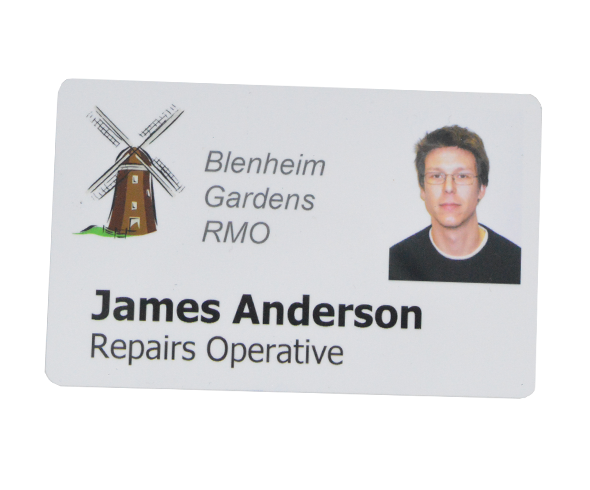 Plastic ID card with a photo