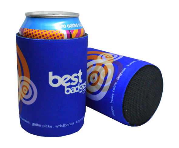 Solid base printed neoprene can cooler