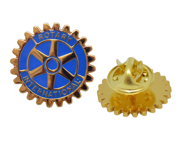 Rotary Blue enamel with gold plating