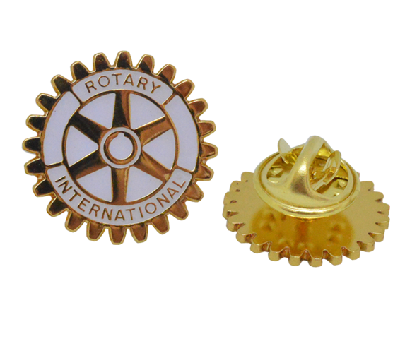 Rotary White enamel with gold plating